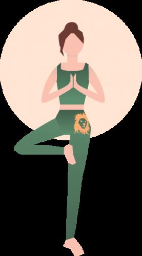 Yoga Übung Vrikshasana - der Baum